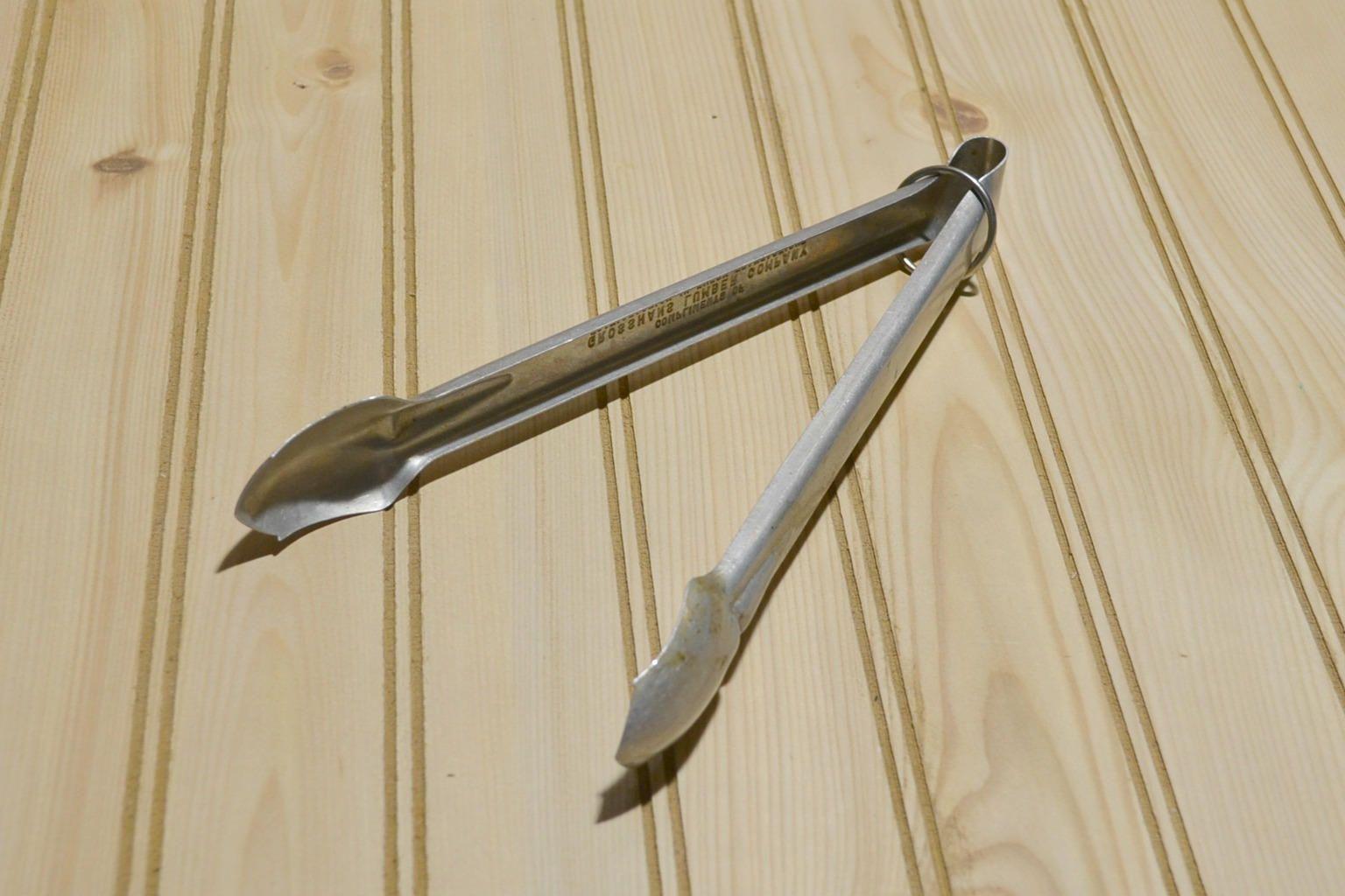 Vintage Anodized Aluminum Tongs
