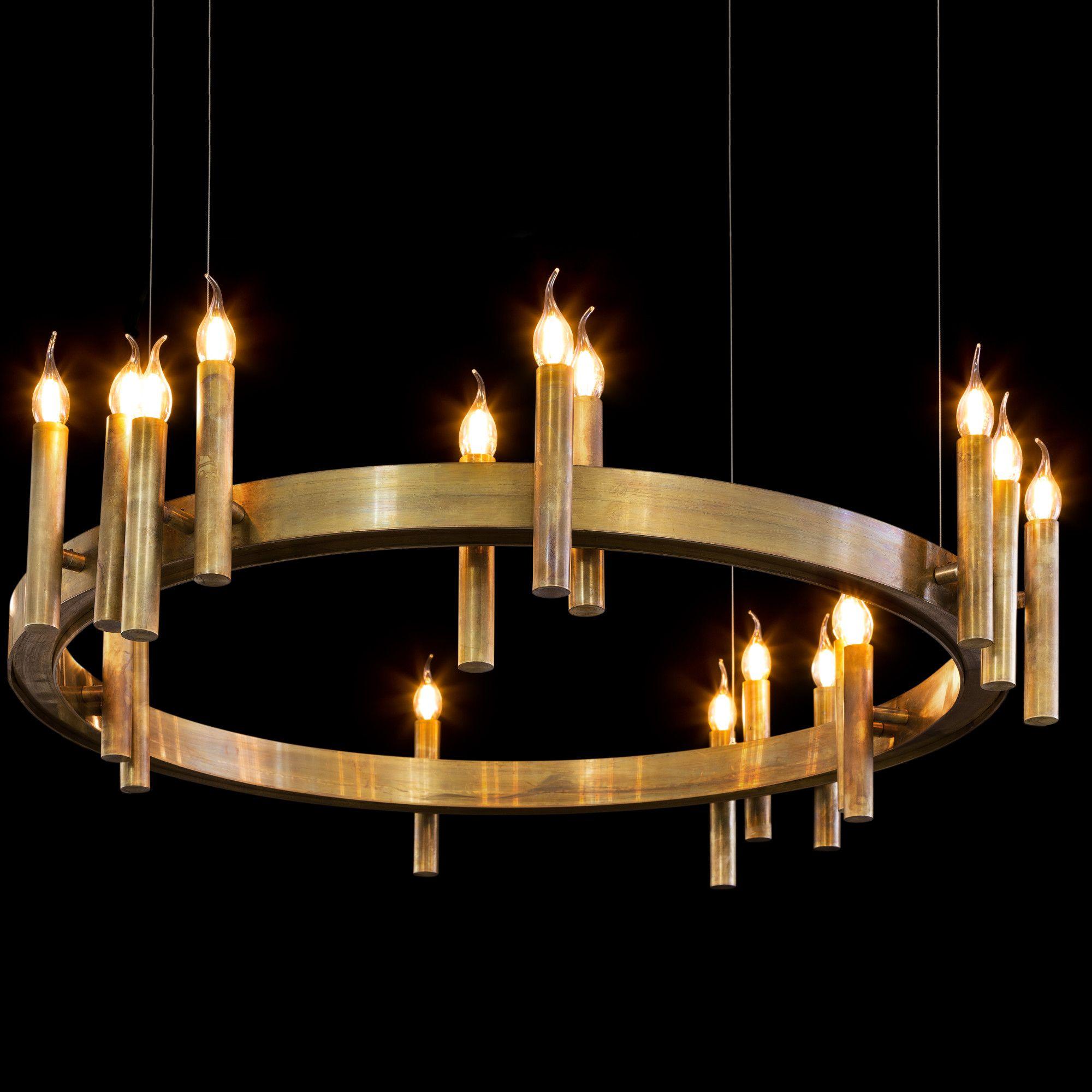 Shiro Ring Chandelier By Brand Van Egmond Shsr100brburu Modern Lighting Design Chandelier Contemporary Chandelier