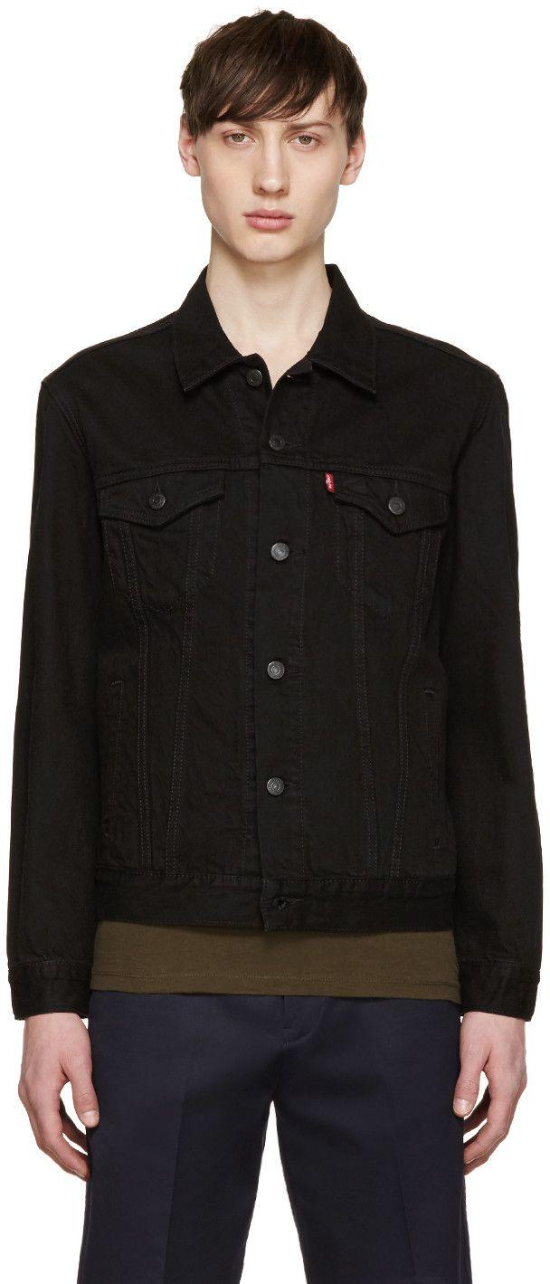 Levi S Black Denim The Trucker Jacket Levis Cloth Jacket