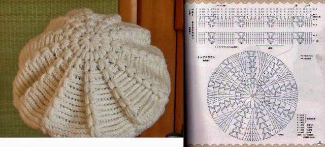 Uncinetto Facile Facile: Cappelli e berretti all'uncinetto schemi gratis  Crochet and co ...