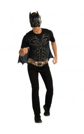 kit disfraz de batman el caballero de la noche dc comics para hombre ... 83fd6c70c90