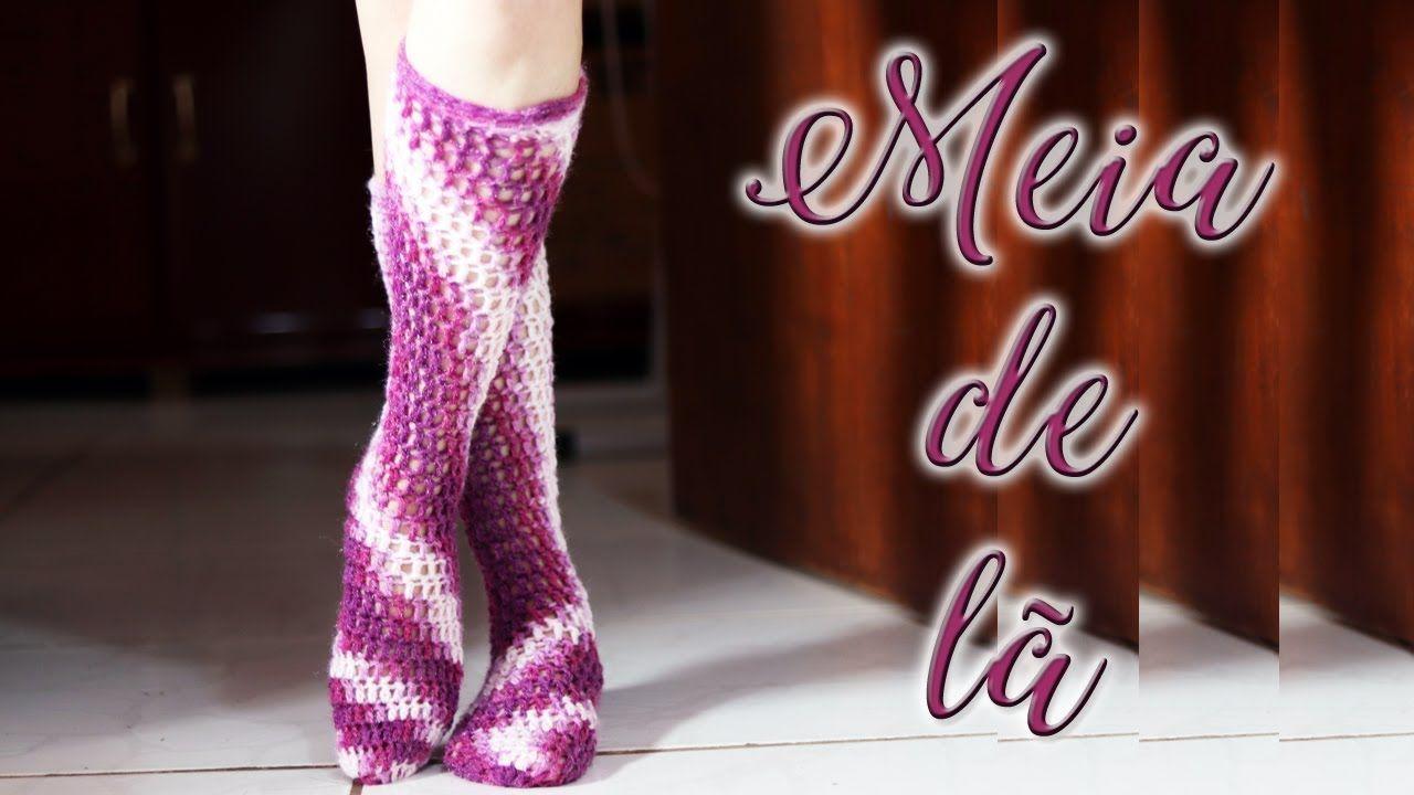 Artesanato Passo A Passo Como Fazer Meia De La Em Croche Meia