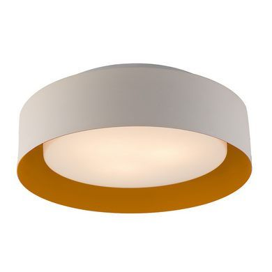 Decorate your house with this gorgeous looking Bromi Design Lynch White & Orange Flush Mount Ceiling Light