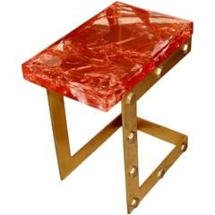 Red Resin Side Table