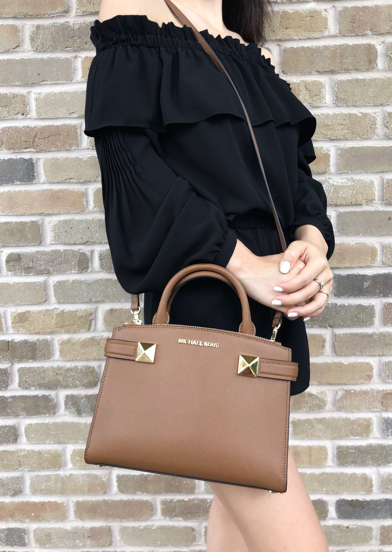 cbc736703b98 Michael Kors Karla Small East West Satchel Bag Luggage Leather #Handbags # MichaelKors #MK