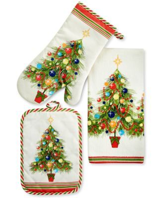 Fiesta Christmas Tree Kitchen Linens Collection Macys Com