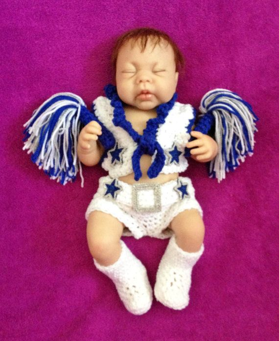 the best attitude 8ce7b 658d5 Baby Dallas Cowboys Cheerleader Outfit with Pom Poms | Pom ...