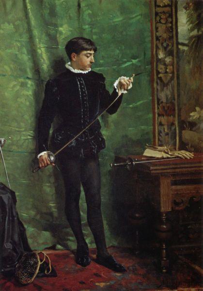 Miekkailusalissa (1877)