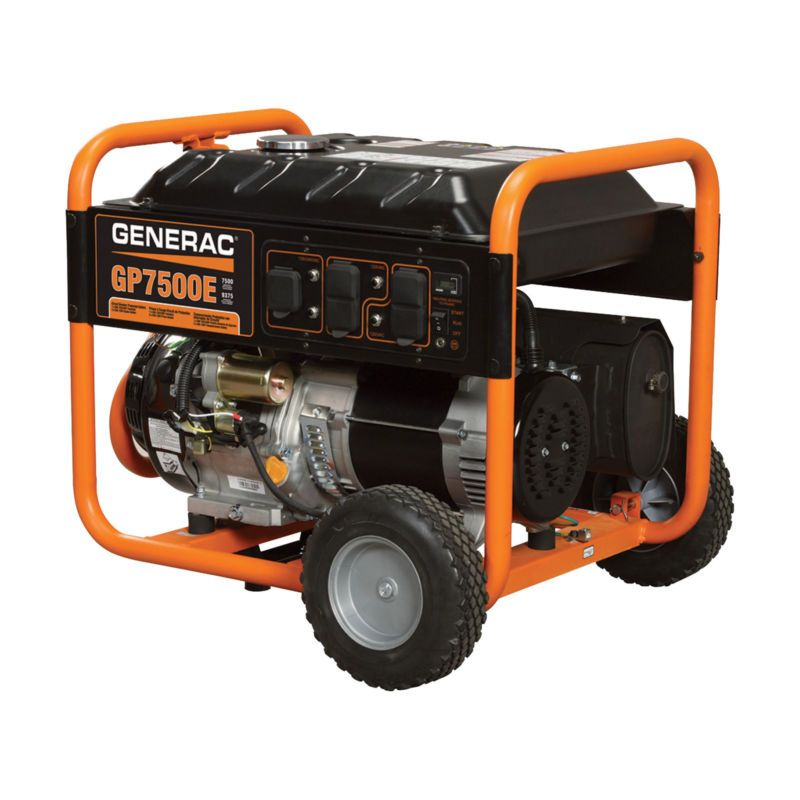 Generac Gp7500e 7500 Watt 5943 0 Electric Start Portable Generator 49 St New Free Shipping Portable Generator Emergency Generator Portable Power Generator
