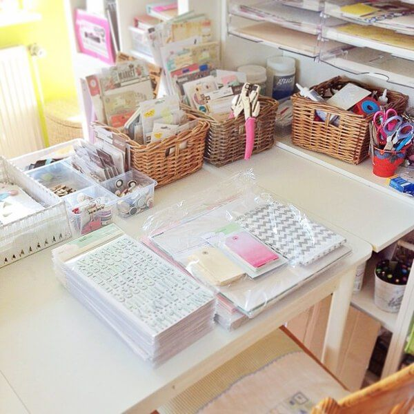 Janna Werner's tidy desk - click through for interview