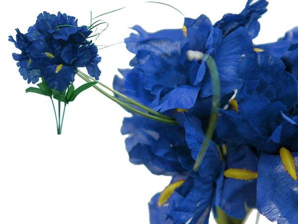 60 silk iris flowers royal blue silk flowers factory wedding 60 silk iris flowers royal blue silk flowers factory mightylinksfo