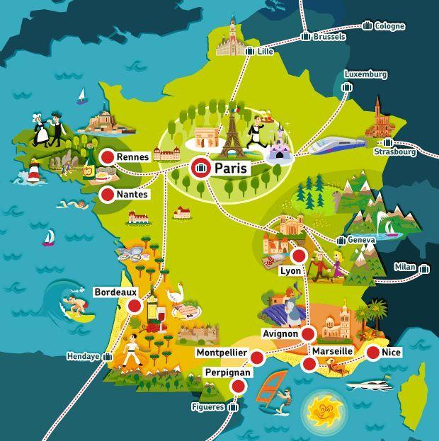 Image Result For Map Of France For Children French Memes Viaggi
