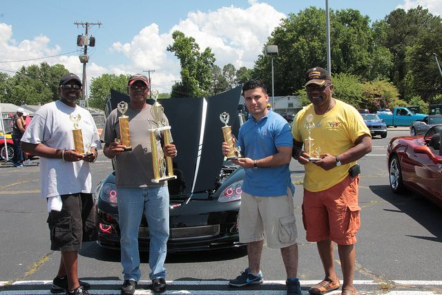 Winners at a local car show in Hampton Va.