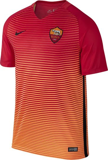The new AS Roma 16-17 third kit is red and orange, based on