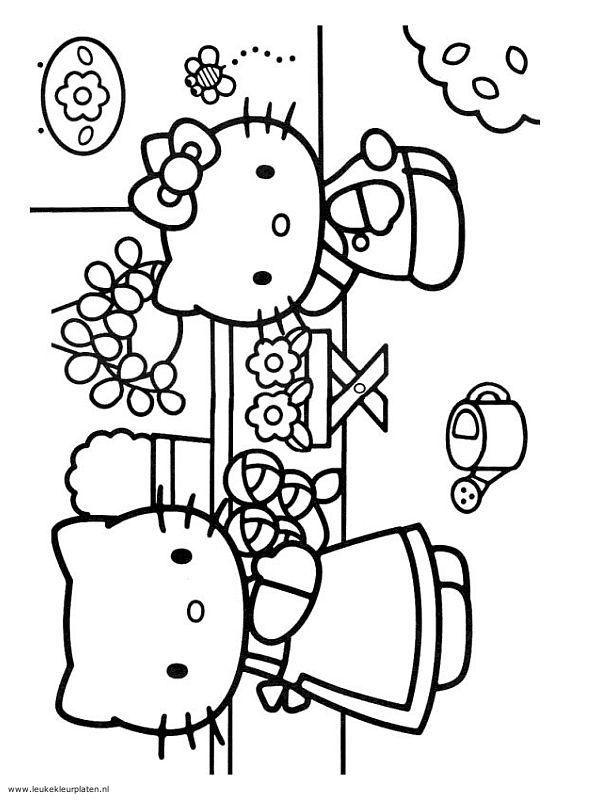 Kleurplaten Kerstmis Hello Kitty.Hello Kitty 4 Kleurplaten Naaipatronen Kleurplaten En Meisjes