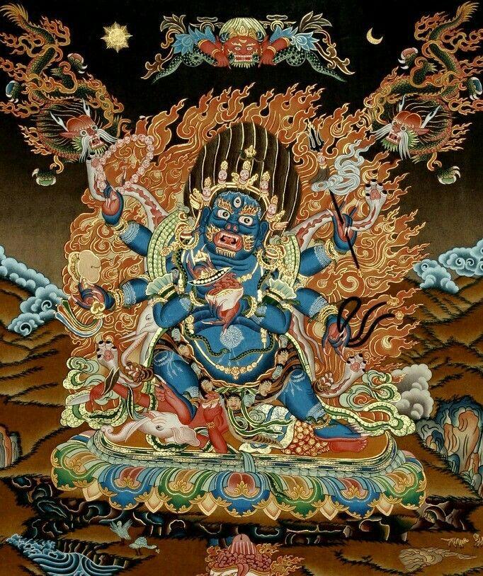 Six Armed Mahakala │ 祜主 六臂大黑天「瑪哈嗄拉」 | Ý tưởng hình xăm, Hình xăm, Nghệ thuật