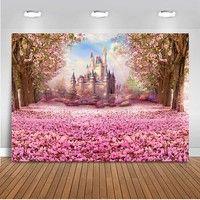 Mehofoto Fotografie Hintergrund Floral Meer Hintergrund für Fotostudio Prinzessin Fantasy Castle Regenbogen Party Dekoration Lieferungen Neugeborenen Baby Shower | Wunsch