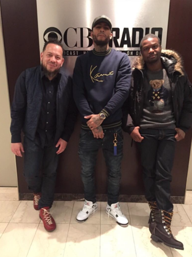 f96b947f6c2 Dave East in the Air Jordan 4 White Cement