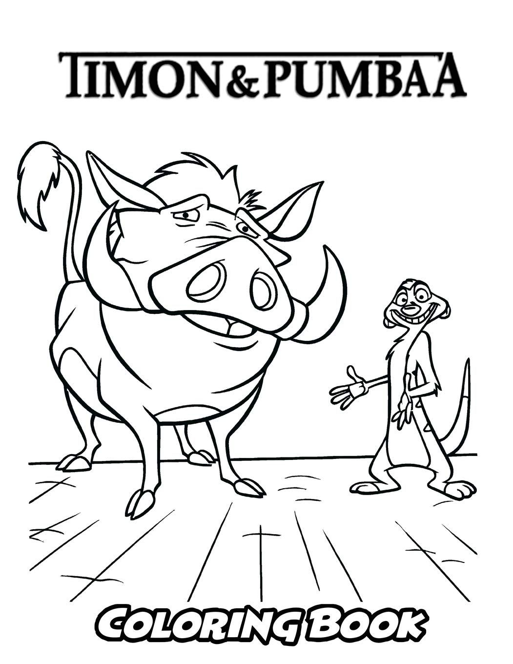 Large Coloring Books For Adults Coloring Pages Timon And Pumba