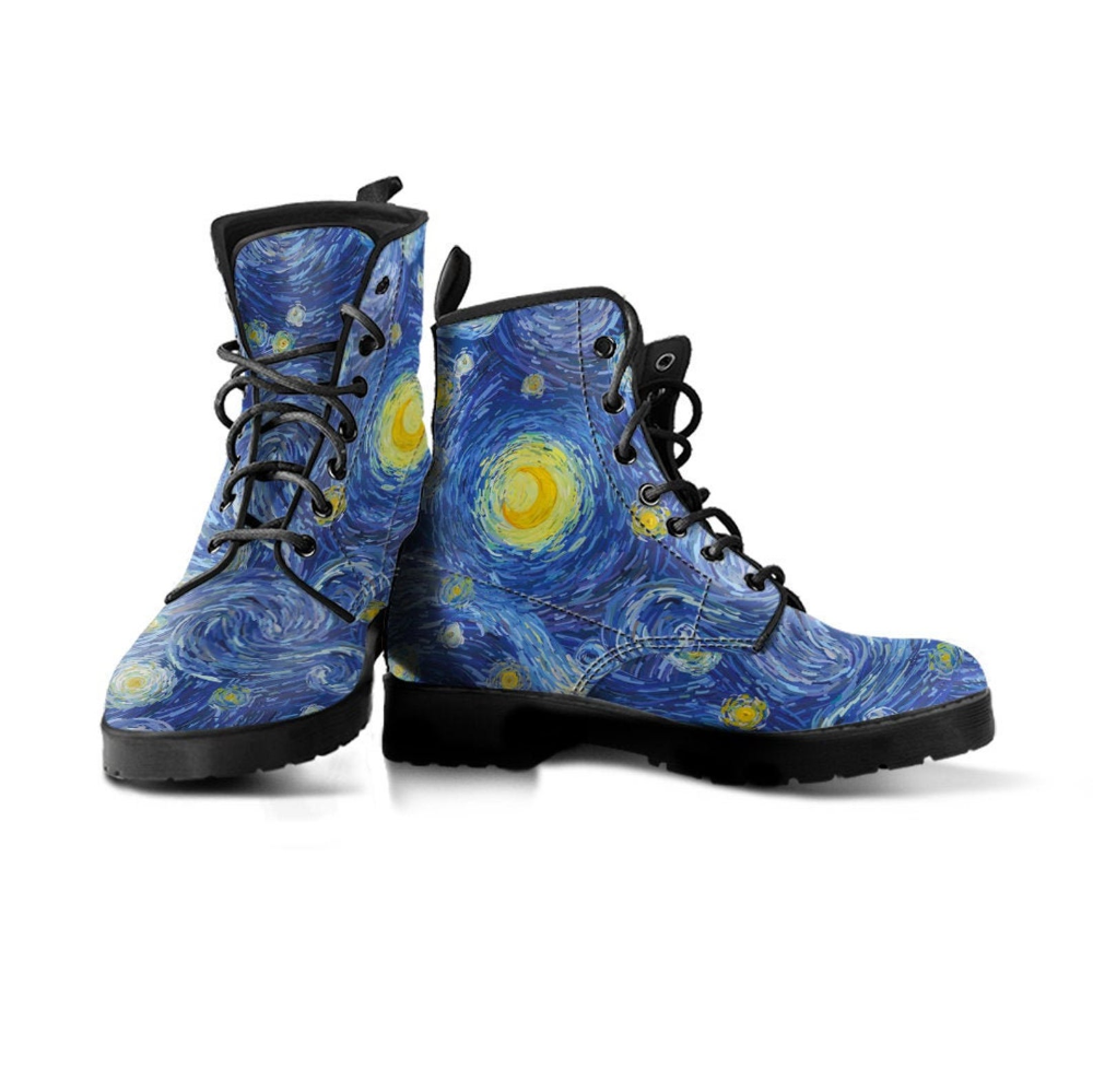 Starry Night Boots Van Gogh Shoes Women S Boots Vegan Etsy In 2020 Classic Boots Womens Boots Boot Shoes Women