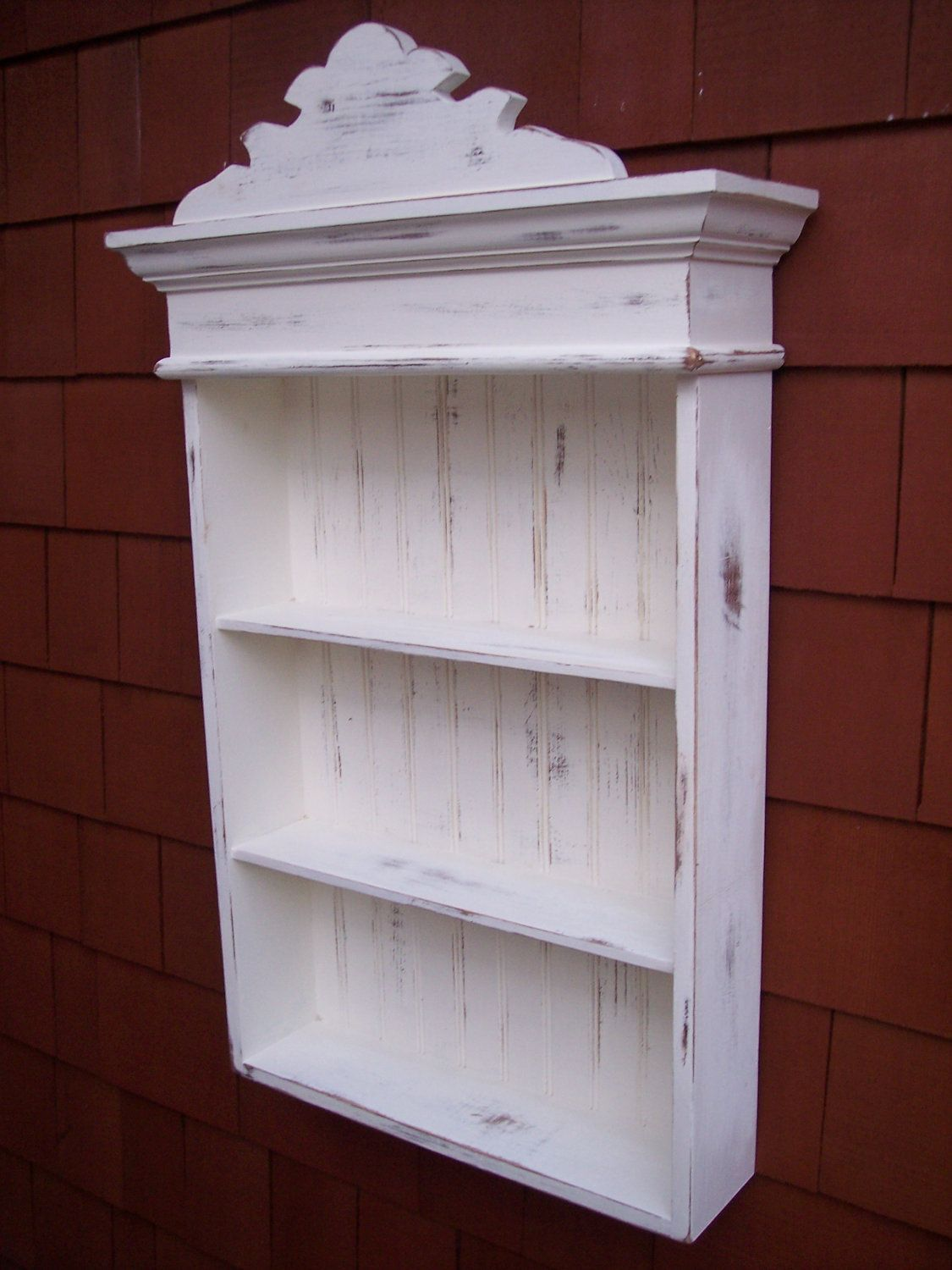 Fetching distressed wall cabinet would make a wonderful accent piece in any room of your & Fetching distressed wall cabinet would make a wonderful accent ...