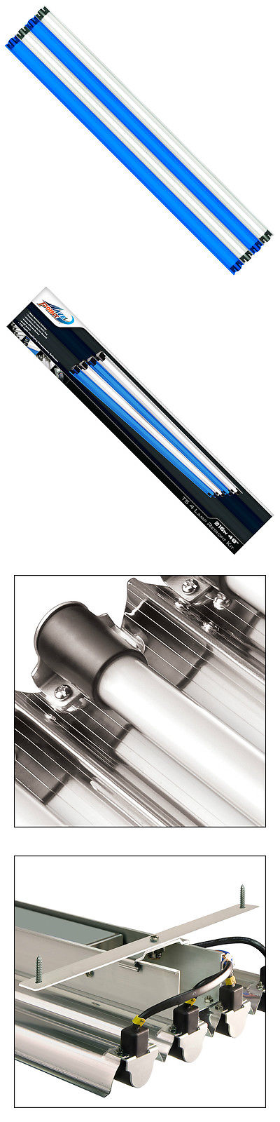 Lighting and Bulbs 46314: Wave Point 216-Watt (4X 54W) 48 Inch Ho T5 4-Lamp Retrofit Kit (W-10213) -> BUY IT NOW ONLY: $169.99 on eBay!