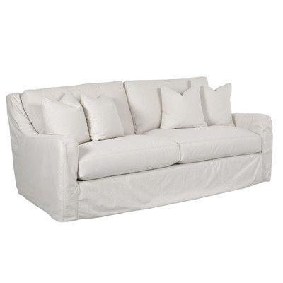 Wayfair Custom Upholstery Maggie Sofa Upholstery Glynnlinen Optic
