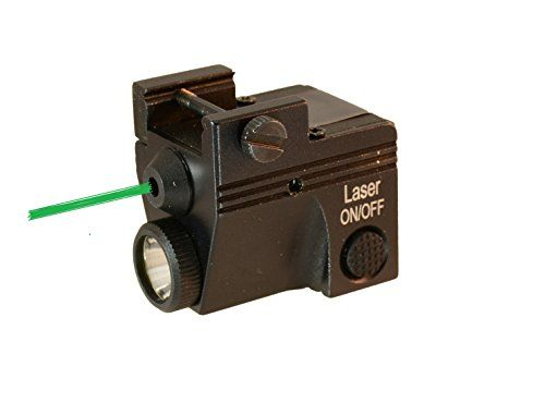 HiLight P3GL 450 Lumen Pistol Flashlight /& Green Laser Sight Combo