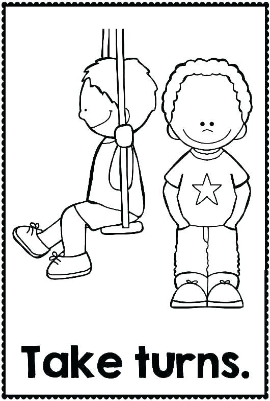 Manners Coloring Sheets Good Pages Library Image Colouring