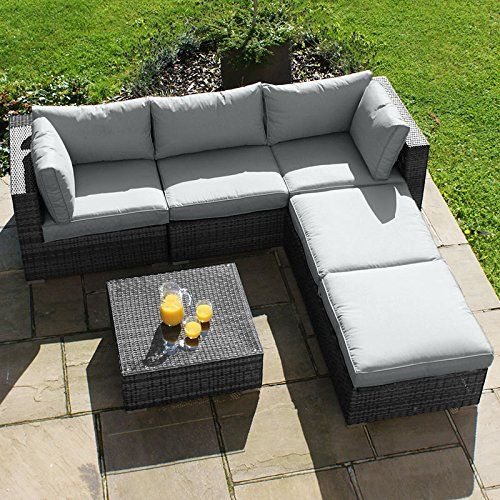 Maze Rattan Outdoor Garden Furniture Rio Grey Rattan Corner Sofa Set Maze Rattan Http Www Amazon C Rattan Garden Furniture Garden Sofa Set Rattan Corner Sofa