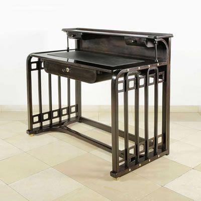 Josef Hoffmann Schreibtisch Um 1905 Ausfuhrung Jacob Josef Kohn Buche Mahagoni Gebeizt Und Modern Retro Furniture Art Deco Desk Interior Architecture Design