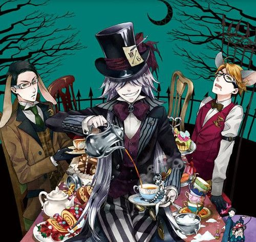 William, Undertaker, Ronald. - Ciel in wonderland part 2 // Kuroshitsuji