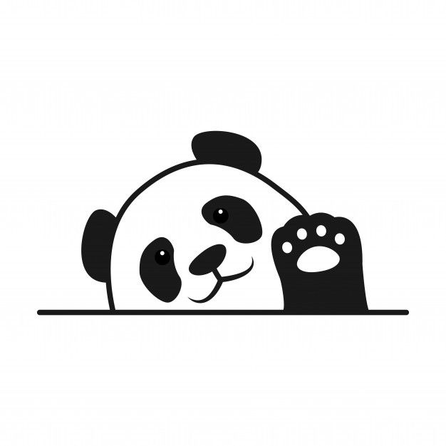 Baby panda waving paw cartoon Premium Ve... | Premium Vector #Freepik #vector #animal