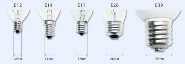 Light Bulb Bases E12 Is A Candelabra Base E26 Is A Medium Base Light Bulb Bases Light Bulb Light Bulb Lamp