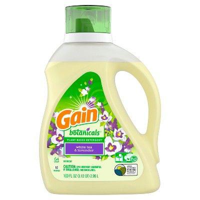 Gain White Tea Lavender Botanicals Plant Based Laundry Detergent
