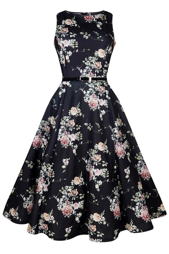 Watercolour Floral Hepburn By Lady Vintage At Two Lippy Ladies Dresses Nz Fabulous Clothes Rockabilly Outfits