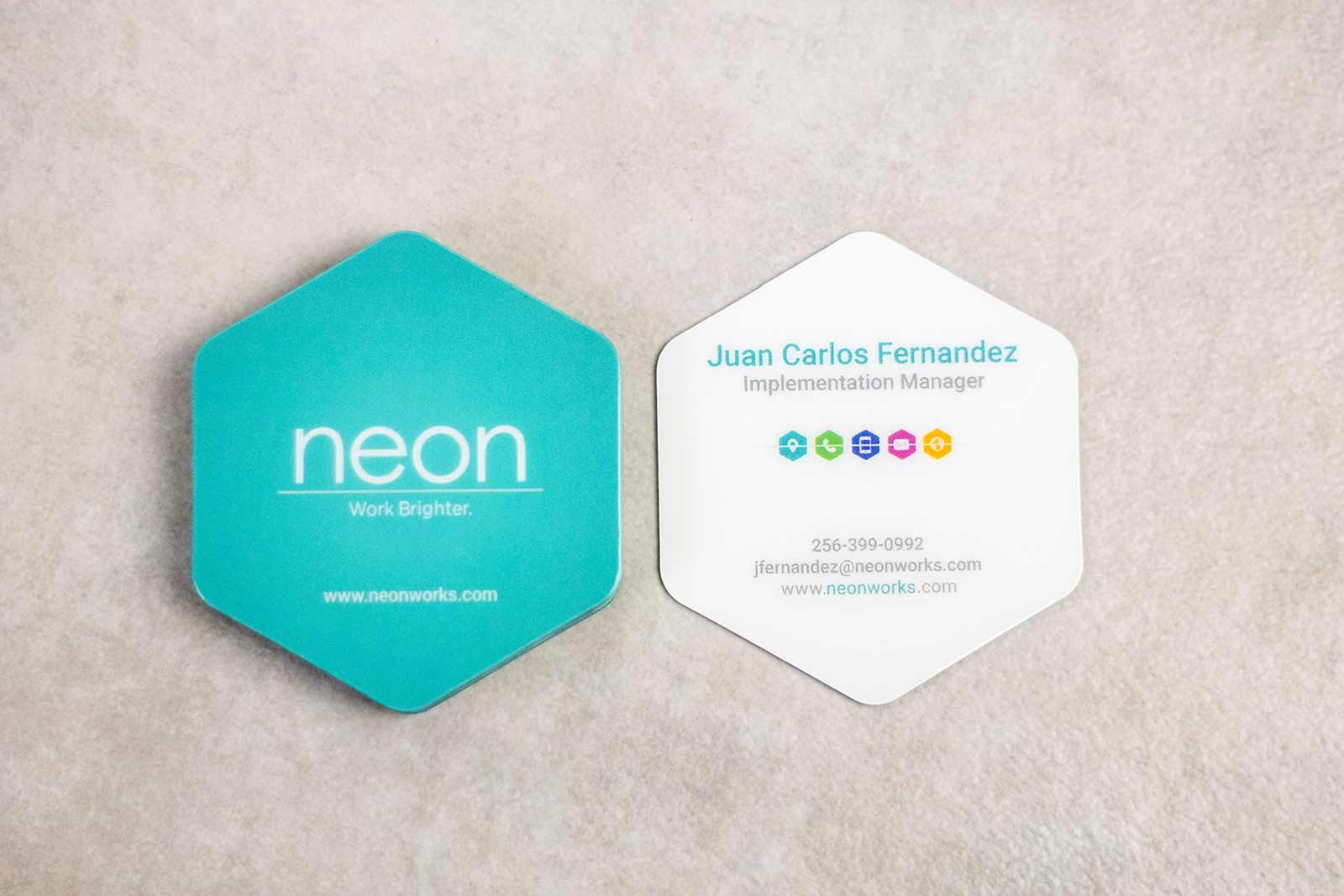 Hexagon shaped business cards business cards pinterest hexagon shaped business cards reheart Gallery