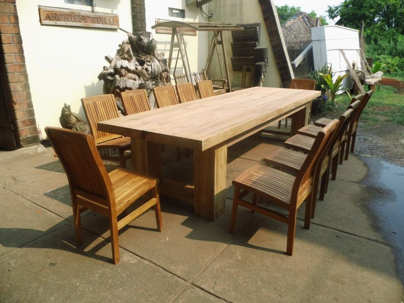 Rustic Teak Table   For Patio