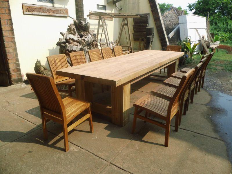 Wonderful Rustic Teak Table   For Patio