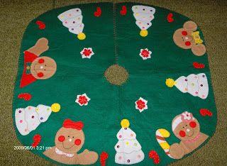 PATCHWORK MICH: Pies de árbol y carpetas navideñas