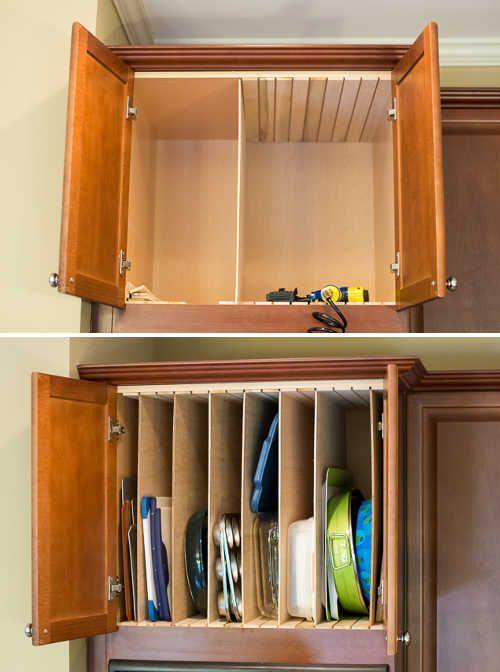 14 Genius Kitchen Cabinet And Drawer Hacks. Kitchen OrganizationOrganisationDream  KitchensKitchen CabinetsClutterKitchen IdeasStorage IdeasFree ...