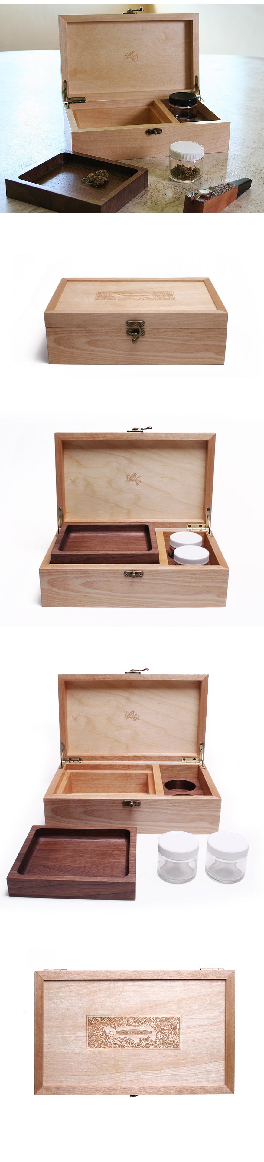 Luxury handmade stash box by Cedar & Finch.