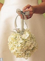 white hydrangea pomander | by The Studio at Cactus Flower
