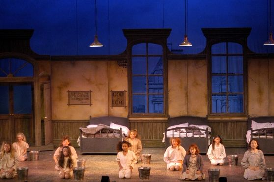 scenery for annie musical annie ss1 stage set scenery. Black Bedroom Furniture Sets. Home Design Ideas