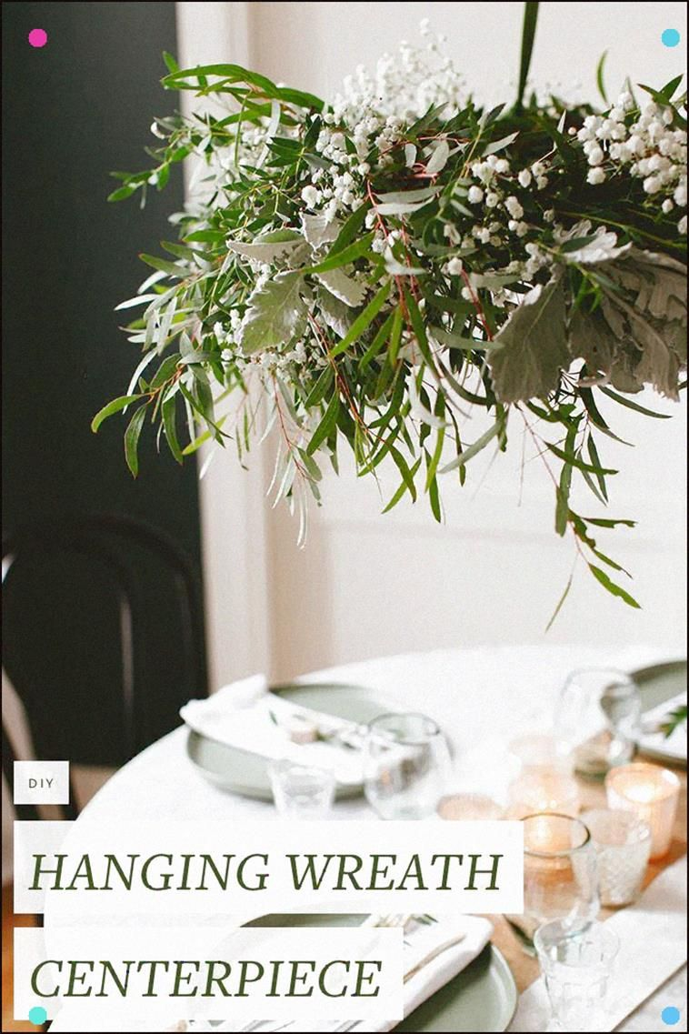 Photo of Diy Hanging Eucalyptus Wreath Centerpiece For Casual, Low-Key Holiday Entertaini…