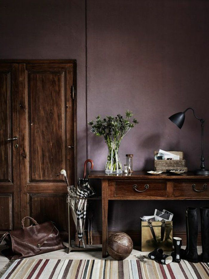 80 id es d 39 int rieur pour associer la couleur prune salons furniture - Violet prune couleur ...