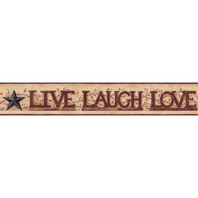 York Wallpaper YC3345BD Home Live, Laugh, Love