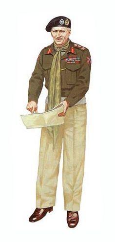 BRITISH ARMY -  Lieutenant-General Bernard Montgomery, G.O.C. 8th Army, 1942, pin by Paolo Marzioli