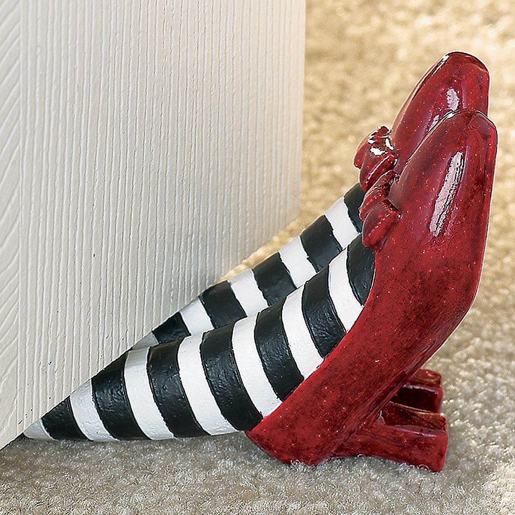 NEW The Wizard of Oz Red Ruby Slippers Doorstop - Wicked Witch - Wizard Of Oz Halloween Decorations