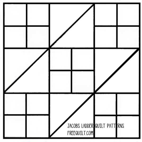 quilt squares | ... Ladder quilt block uses half-square triangles ...